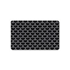 Scales3 Black Marble & Gray Colored Pencil Magnet (name Card)