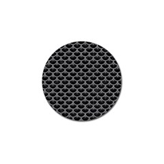 Scales3 Black Marble & Gray Colored Pencil Golf Ball Marker (4 Pack)