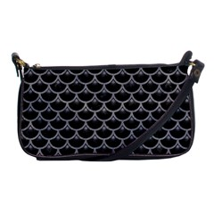 Scales3 Black Marble & Gray Colored Pencil Shoulder Clutch Bags