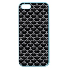 Scales3 Black Marble & Gray Colored Pencil Apple Seamless Iphone 5 Case (color)
