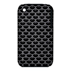 Scales3 Black Marble & Gray Colored Pencil Iphone 3s/3gs