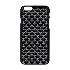 Scales3 Black Marble & Gray Colored Pencil Apple Iphone 6/6s Black Enamel Case