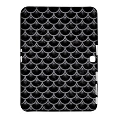 Scales3 Black Marble & Gray Colored Pencil Samsung Galaxy Tab 4 (10 1 ) Hardshell Case