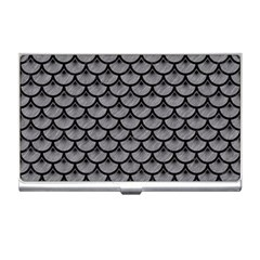 Scales3 Black Marble & Gray Colored Pencil (r) Business Card Holders