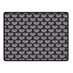 Scales3 Black Marble & Gray Colored Pencil (r) Fleece Blanket (small)