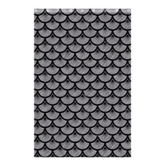Scales3 Black Marble & Gray Colored Pencil (r) Shower Curtain 48  X 72  (small)