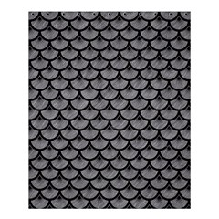 Scales3 Black Marble & Gray Colored Pencil (r) Shower Curtain 60  X 72  (medium)