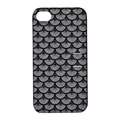 Scales3 Black Marble & Gray Colored Pencil (r) Apple Iphone 4/4s Hardshell Case With Stand