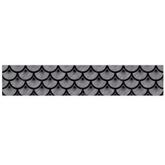 Scales3 Black Marble & Gray Colored Pencil (r) Flano Scarf (large)