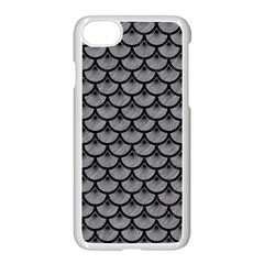 Scales3 Black Marble & Gray Colored Pencil (r) Apple Iphone 7 Seamless Case (white)