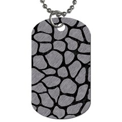 Skin1 Black Marble & Gray Colored Pencil Dog Tag (two Sides)
