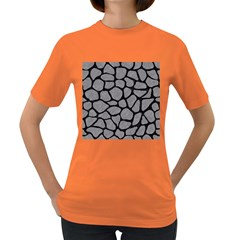 Skin1 Black Marble & Gray Colored Pencil Women s Dark T Shirt