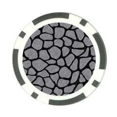 Skin1 Black Marble & Gray Colored Pencil Poker Chip Card Guard (10 Pack)