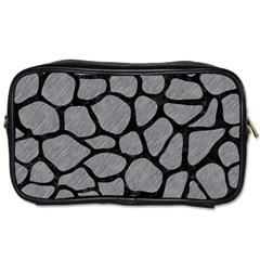 Skin1 Black Marble & Gray Colored Pencil Toiletries Bags 2 Side
