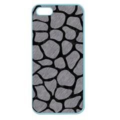 Skin1 Black Marble & Gray Colored Pencil Apple Seamless Iphone 5 Case (color)