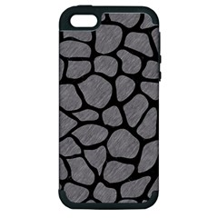 Skin1 Black Marble & Gray Colored Pencil Apple Iphone 5 Hardshell Case (pc+silicone)