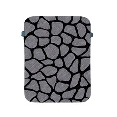 Skin1 Black Marble & Gray Colored Pencil Apple Ipad 2/3/4 Protective Soft Cases