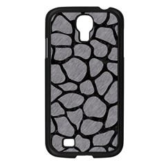 Skin1 Black Marble & Gray Colored Pencil Samsung Galaxy S4 I9500/ I9505 Case (black)