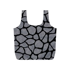 Skin1 Black Marble & Gray Colored Pencil Full Print Recycle Bags (s)