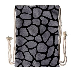 Skin1 Black Marble & Gray Colored Pencil Drawstring Bag (large)