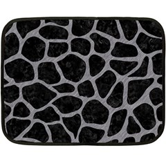 Skin1 Black Marble & Gray Colored Pencil (r) Double Sided Fleece Blanket (mini)