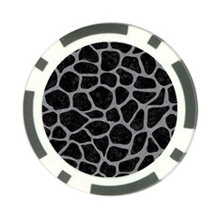 Skin1 Black Marble & Gray Colored Pencil (r) Poker Chip Card Guard (10 Pack)