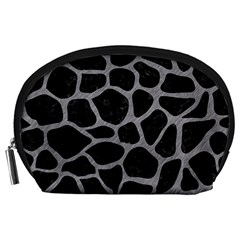 Skin1 Black Marble & Gray Colored Pencil (r) Accessory Pouches (large)