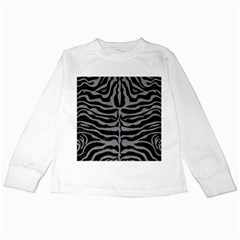 Skin2 Black Marble & Gray Colored Pencil Kids Long Sleeve T Shirts