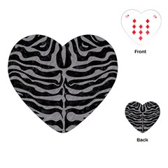 Skin2 Black Marble & Gray Colored Pencil Playing Cards (heart)