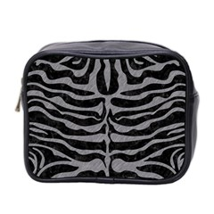 Skin2 Black Marble & Gray Colored Pencil Mini Toiletries Bag 2 Side