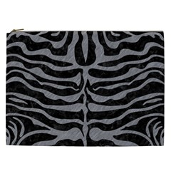 Skin2 Black Marble & Gray Colored Pencil Cosmetic Bag (xxl)