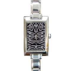 Skin2 Black Marble & Gray Colored Pencil (r) Rectangle Italian Charm Watch