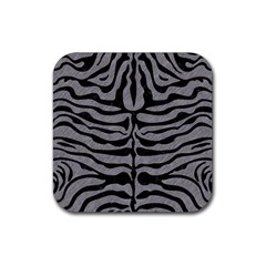 Skin2 Black Marble & Gray Colored Pencil (r) Rubber Square Coaster (4 Pack)