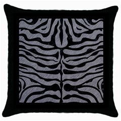 Skin2 Black Marble & Gray Colored Pencil (r) Throw Pillow Case (black)