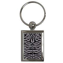 Skin2 Black Marble & Gray Colored Pencil (r) Key Chains (rectangle)