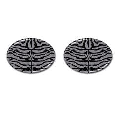 Skin2 Black Marble & Gray Colored Pencil (r) Cufflinks (oval)