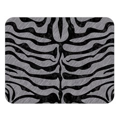 Skin2 Black Marble & Gray Colored Pencil (r) Double Sided Flano Blanket (large)