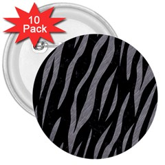 Skin3 Black Marble & Gray Colored Pencil 3  Buttons (10 Pack)
