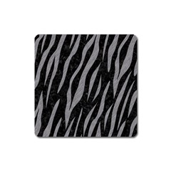 Skin3 Black Marble & Gray Colored Pencil Square Magnet