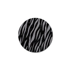 Skin3 Black Marble & Gray Colored Pencil Golf Ball Marker (4 Pack)