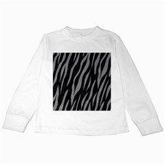 Skin3 Black Marble & Gray Colored Pencil Kids Long Sleeve T Shirts