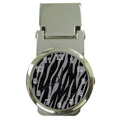 Skin3 Black Marble & Gray Colored Pencil Money Clip Watches