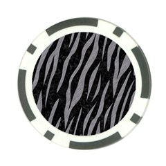 Skin3 Black Marble & Gray Colored Pencil Poker Chip Card Guard