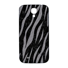 Skin3 Black Marble & Gray Colored Pencil Samsung Galaxy S4 I9500/i9505  Hardshell Back Case
