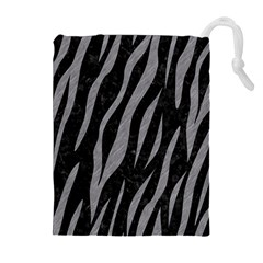 Skin3 Black Marble & Gray Colored Pencil Drawstring Pouches (extra Large)