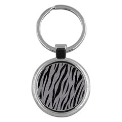Skin3 Black Marble & Gray Colored Pencil (r) Key Chains (round)