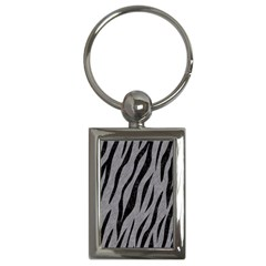 Skin3 Black Marble & Gray Colored Pencil (r) Key Chains (rectangle)