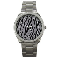 Skin3 Black Marble & Gray Colored Pencil (r) Sport Metal Watch