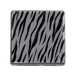 Skin3 Black Marble & Gray Colored Pencil (r) Memory Card Reader (square)