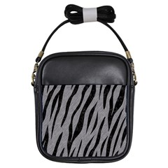 Skin3 Black Marble & Gray Colored Pencil (r) Girls Sling Bags